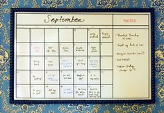 Handrahan has a whiteboard calendar in his office.  I will be looking for environmental inspiration at his shop and office.