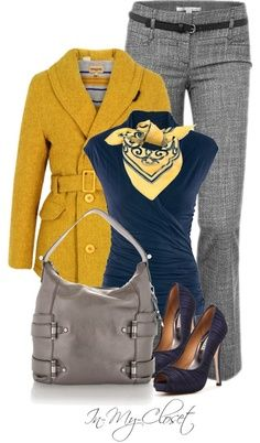 Example - Women's Contemporary Business Casual- swap out the jacket for a cardi, and I might actually have the pieces to make this outfit.