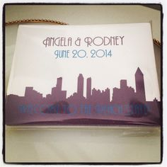 Atlanta welcome bag stickers. Perfect for all your guests