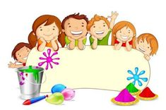Happy Dhuleti Pictures 2020 With Name Holi Festival Essay, Holi Festival Of Colours, Happy Holi, Borders For Paper, Borders And Frames, History Of Holi, Holi Drawing, Art For Kids, Crafts For Kids