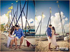 Beach Engagement Shoot #photography #KeyBiscayne #Miami #sailboats
