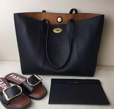 Summer 2017 Mulberry Bayswater Tote Black Small Classic Grain
