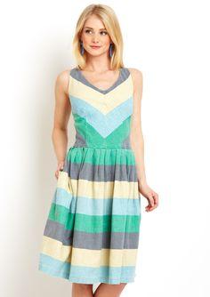 KNITTED DOVE  Stripe Dress via @Luciana D'Andretta Wynne D'Andretta Wynne Carrosia