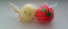 Bath bombs - camomile and red rose