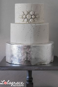 Silver leaf and white chocolate jewels