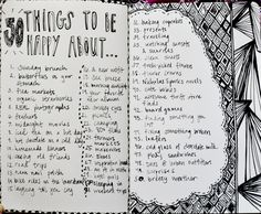 https://flic.kr/p/cZQiuy | 50 things to be happy about | inspired by a cute t-shirt!