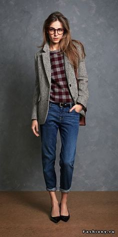 A little bit of masculinity with preppy style - maybe what I need are a good pair of boyfriend jeans