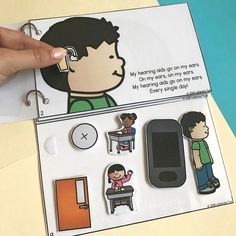 Self-advocacy song book for deaf or hard of hearing students who use hearing aids Speech And Hearing, Hearing Aids, Hearing Impaired, Deaf Education Activities, Counseling Activities, Speech Language Pathology, Speech And Language, Teaching Credential, Deaf Children