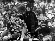 After selling her home, British activist Emmeline Pankhurst travelled constantly, giving speeches throughout Britain and the United States. One of her most famous speeches, Freedom or death, was delivered in Connecticut in Women Rights, Women In History, British History, American History, Rosa Parks, Emmaline Pankhurst, Great Women, Amazing Women, Women Right To Vote