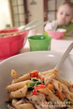 *herligheder: Meget nem og hurtig pasta med kylling!