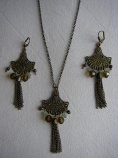 svarowski earrings and necklace
