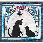 The Cats Meow by Bonnie Kaster appliqu� Quilt Pattern.