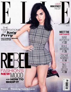 Angelina Jolie, Robert Pattinson, Rihanna, Katy Perry Fotos, Kati Perri, Fashion Magazine Cover, Magazine Covers, Punk Dress, Actrices Hollywood