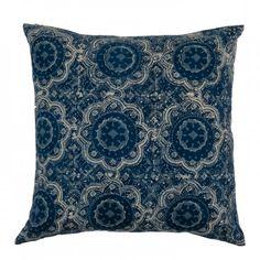 Ian Snow Celinda Indigo Print Cushion || Shop now: www.wallacesacks.com