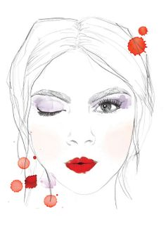 Fashion illustration by CHARLIEDOT Make up Altuzarra