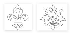 How to Stencil Walls Decoration (Moulds) Stencils, Stencil Decor, Stencil Painting, Stencil Walls, Damask Stencil, Diy And Crafts, Paper Crafts, Line Art Vector, Wood Burning Patterns