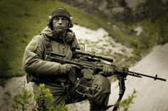 """igunsandgear: """"One man can't change the world, that's why I use a spotter. Military Gear, Military Photos, Military Police, Tactical Survival, Tactical Gear, Military Special Forces, Battle Rifle, Future Soldier, Tac Gear"""
