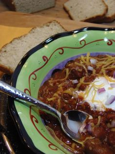 Smoky Beer Chili - Bold flavors like roasted garlic, red pepper flakes, and fiery jalapenos flirt with the sausage and beans in this scrumptious stew that's high in iron and potassium. Oh, and did we mention it's got beer? This combo will definitely get you drunk in love with chili.