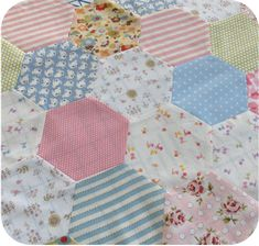 machine sewing Hexagons