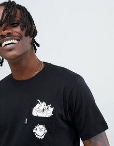 f1061f633dc0 RIPNDIP stuffed t-shirt with pocket in black