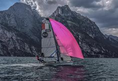 hot pink sail and beautiful coastline.  What a beautiful day!  Photo from @ ccsailingteam Instagram