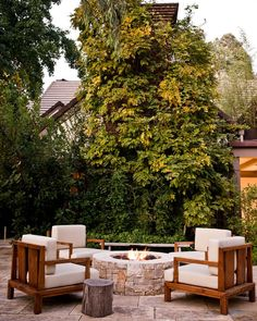 A Built-In Firepit Is Just What Your Backyard Needs This Fall | AbodeToday
