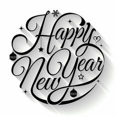 Happy new year typography. Text circle vector by sombatkapan on VectorStock® Happy new year typography. Text circle vector by sombatkapan on VectorStock® Happy New Year Letter, Happy New Year Text, Happy New Year Images, Happy New Year Quotes, Happy New Year Cards, Happy New Year Greetings, Quotes About New Year, Happy New Year 2019, Happy Year