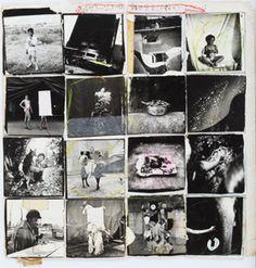 """Kiyoshi Suzuki """"Ten Maku no  Machi, a veiled city"""", 1982  〈天幕の街〉コラージュ 1982年頃"""