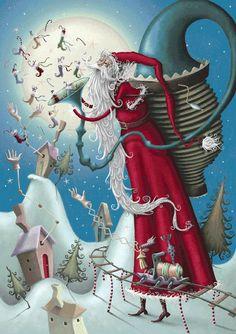 Papa Noel #fantasia #ilustracion #arte