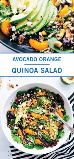 Eating your veggies has never been so easy thanks to this Avocado Orange Quinoa Salad. Perfect as a simple side dish or a nutrient-packed lunch, this healthy recipe is always a delicious choice. Learn more by clicking here. How To Eat Quinoa, How To Make Salad, Gluten Free Recipes For Dinner, Dinner Recipes, Healthy Recipes, Orange Quinoa Salad, Easy Salads, Side Dishes Easy, Avocado