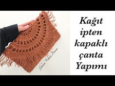 Kağıt İpten Kapaklı Clutch Çanta Yapımı - Part 2 - YouTube Crochet Teddy, Knit Crochet, Handmade Crafts, Diy And Crafts, Crochet Shoulder Bags, Bag Making, Fingerless Gloves, Arm Warmers, Crochet Patterns