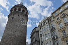 Istanbul - Galata Tower, visible from almost every corner of the city, built in the 6th century as a lighthouse by  Byzantines, when Ottomans conquered Istanbul it was used as a dungeon,the 16th century it was a fire tower, and after a serious fire incident, Genoese rebuilt the tower in stone and give the tower its final shape