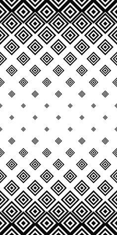 Black white seamless square pattern design in 2019 desenler, sanat, telefon Monochrome Pattern, Geometric Pattern Design, Geometric Art, Pattern Art, Pattern Designs, Geometric Designs, Square Patterns, White Patterns, Textures Patterns