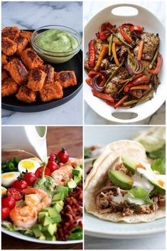 Easy Whole30 Meal Plan - Breakfast, Lunch, Dinner and Snack Recipes