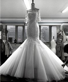 free shipping 2013 new design fishtail sexy real pictures sleeves crystal beaded Mermaid lace wedding dresses bridal gowns US $179.00
