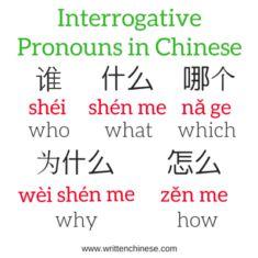 Interrogative Pronouns in Chinese