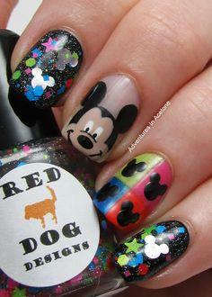 Pop art mickey nails nails nails, disney nails и mickey nail Get Nails, Fancy Nails, Love Nails, Mickey Mouse Nail Art, Mickey Nails, Disney Mickey, Fabulous Nails, Gorgeous Nails, Pretty Nails