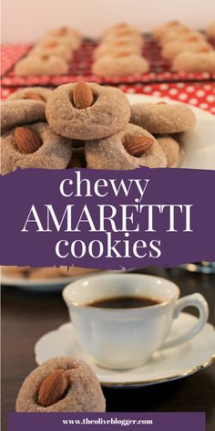 These Amaretti Cookies are so easy to make, they make a ton (8 dozen!) they are full of almond flavor and they go perfectly with a cup of tea or coffee! #Amaretticookies #Italiancookies #cookies #cookierecipe Italian Cookie Recipes, Italian Cookies, Best Cookie Recipes, Baking Recipes, Xmas Recipes, Lemon Recipes, Yummy Recipes, Amaretti Cookie Recipe, Amaretti Cookies