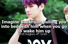 Baekhyun Imagine Exo Imagines, Cute Imagines, Boyfriend Games, Bts Imagine, Exo Memes, Bias Wrecker, Baekhyun, Taurus, Bands