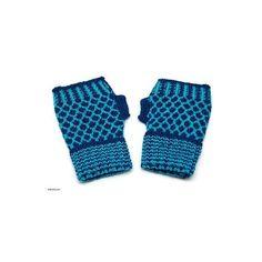 NOVICA Alpaca blend fingerless mitts featuring polyvore, fashion, accessories, gloves, blue, clothing & accessories, patterned, novica, fingerless mitts, fingerless gloves, blue fingerless gloves and mitt glove