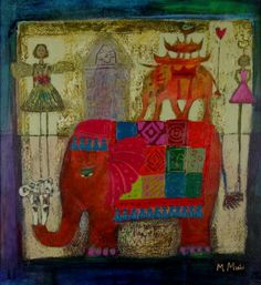 Morag MUIR artist, paintings and art at the Red Rag Scottish Art Gallery Painting For Kids, Art For Kids, Beauty In Art, Elephant Art, Art For Art Sake, Naive Art, Contemporary Artists, New Art, Art Projects