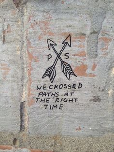 we crossed paths at the right time.