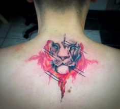 3rd tattoo #stattoo #tattoo #watercolour #lion #6colours