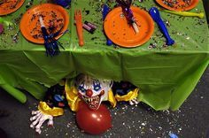 scary clown party decorations - Google Search