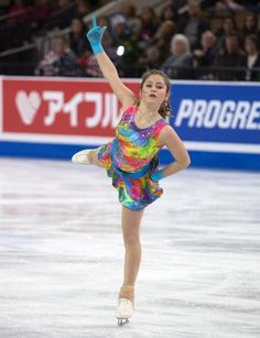 Julia Lipnitskaia, Russia- 5th after short at Skate America 2015