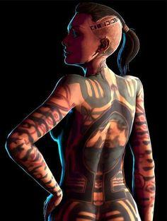 Mass Effect Jack, Tales From The Borderlands, Mass Effect Universe, Fantasy Women, Fantasy Art, Comic Book Girl, Star Force, Pirate Art, Arte Cyberpunk