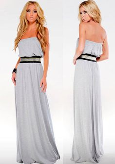 Strapless Empire Maxi Gown