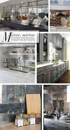 Mirror Backsplash antique mirror backsplash. make your own using krylon mirror spray
