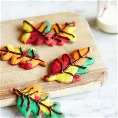 Fall Color Swirl Cookies from Pillsbury® Baking