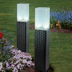 solarzauber 2er-Set Rattan-Leuchten